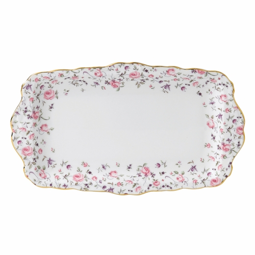 Rose Confetti Sandwich Tray by Royal Albert - Special Order