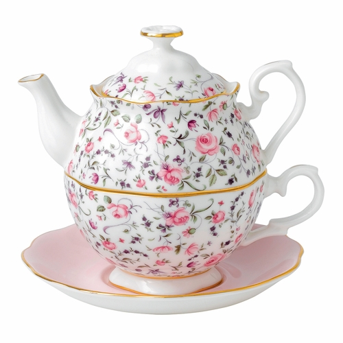 Rose Confetti Tea For One by Royal Albert - Special Order