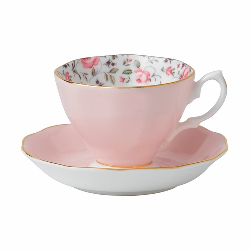 Rose Confetti Teacup & Saucer Set by Royal Albert - Special Order