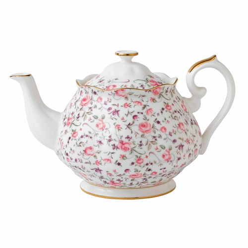 Rose Confetti Teapot by Royal Albert - Special Order