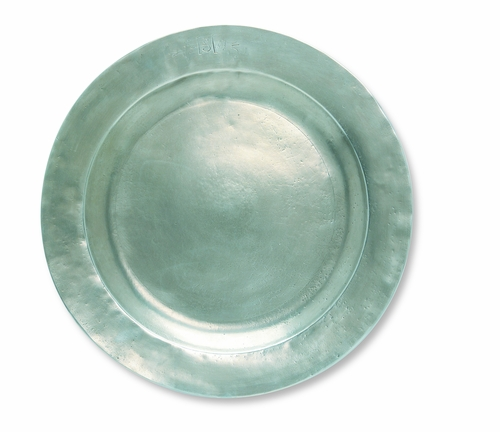 "Round ""ASL"" Platter by Match Pewter"