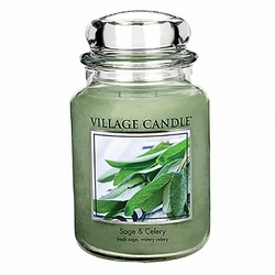 Sage & Celery 26 oz. Premium Round by Village Candles | Village Candles Closeouts