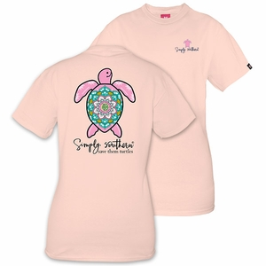 Save the Turtles Boho Rose Short Sleeve Tee by Simply Southern