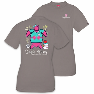 Save the Turtles Teacher Steel Short Sleeve Tee by Simply Southern