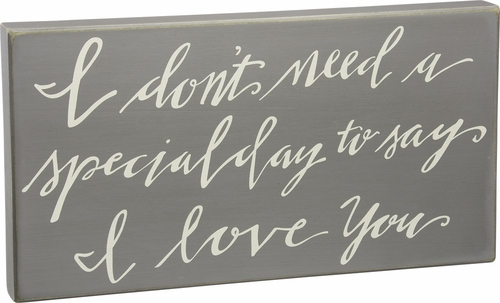 Say I Love You Box Sign - Primitives by Kathy