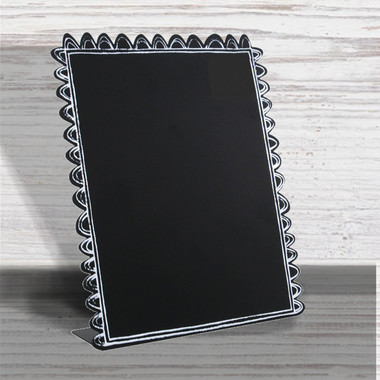 "Scallop Edge Easel Chalkboard Finish 9 X 7.5""  - Roeda"