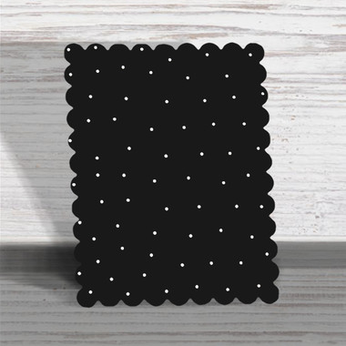 """Scallop Edge Easel with Kickstand Black with Dots 8.5 X 6.5""""  - Roeda"""