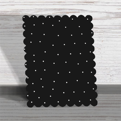 "Scallop Edge Memo Board Black with Dots 12 X 12""  - Roeda"