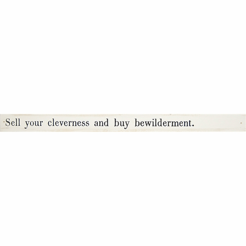 Sell Your Cleverness Poetry Stick by Sugarboo Designs