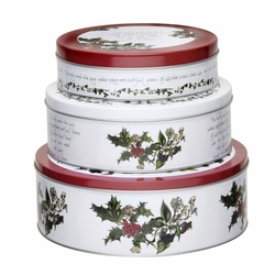 Set of 3 Holly Cardinal Nesting Cake Tins by Pimpernel