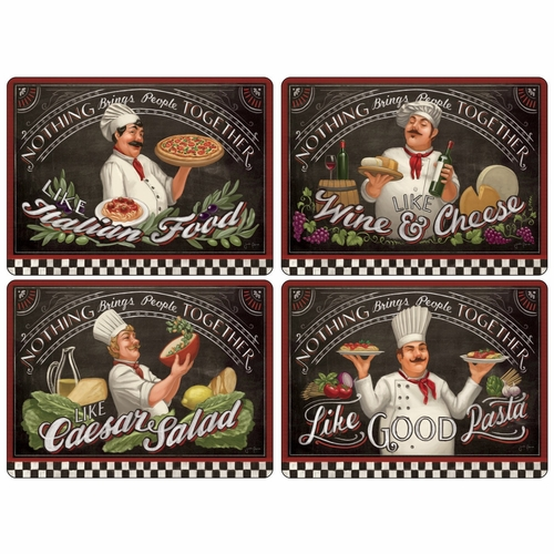Set of 4 Chef's Specials Placemats by Pimpernel