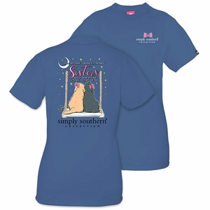 Side by Side or Miles Apart Sisters Will Always Be Connected by Heart Moonrise Short Sleeve Tee by Simply Southern