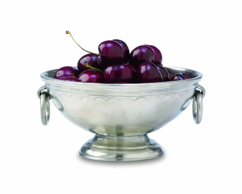 Small Deep Footed Bowl with Rings by Match Pewter