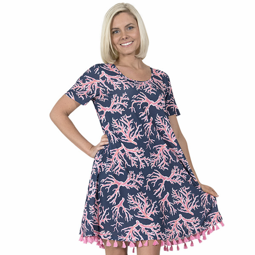 Small Naples Short Sleeve Dress by Simply Southern