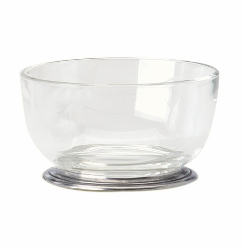 Small Round Crystal Bowl by Match Pewter