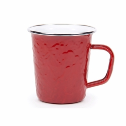 Solid Red 16 oz. Latte Mug by Golden Rabbit