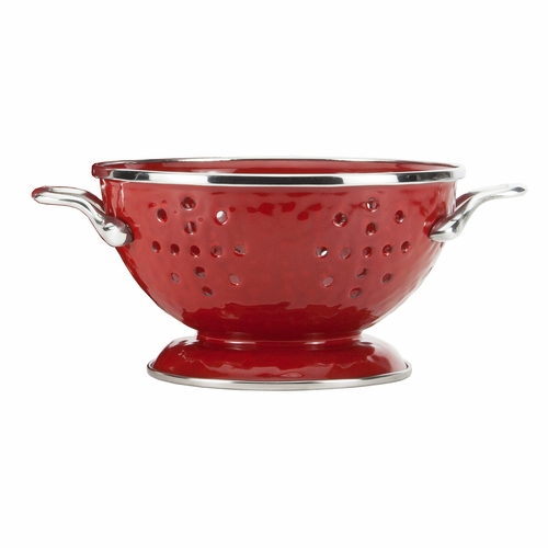 Solid Red Petite Colander by Golden Rabbit