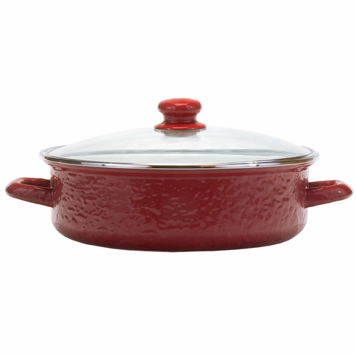 Solid Red Small Saute Pan by Golden Rabbit