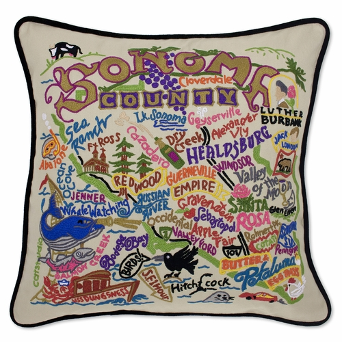 Sonoma XL Hand-Embroidered Pillow by Catstudio (Special Order)