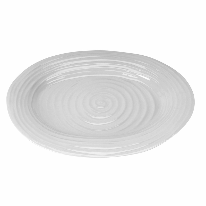 Sophie Conran Grey Large Oval Platter by Portmeirion