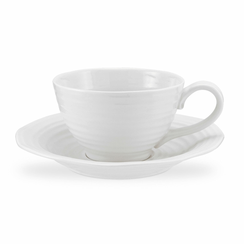 Sophie Conran White Jumbo Cup & Saucer by Portmeirion