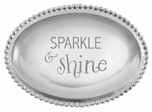 """Sparkle & Shine"" Small Oval Tray by Mariposa"