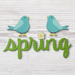 Spring with Bird Magnet  - Roeda