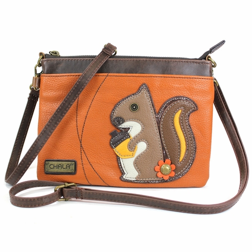 Squirrel Mini Crossbody - Orange