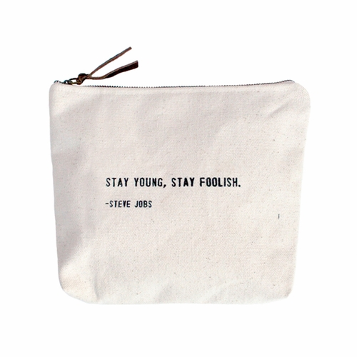 Stay Young, Stay Foolish Canvas Bag by Sugarboo Designs