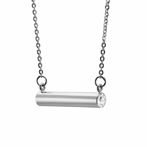 Stella Valle April Love + Strength Silver Necklace