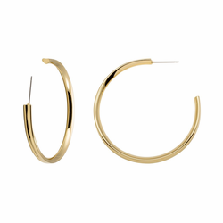"Stella Valle Heart 2"" Gold Earrings"