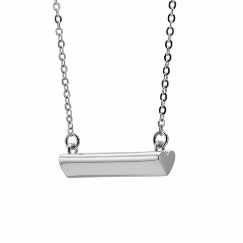 Stella Valle Heart Silver Necklace