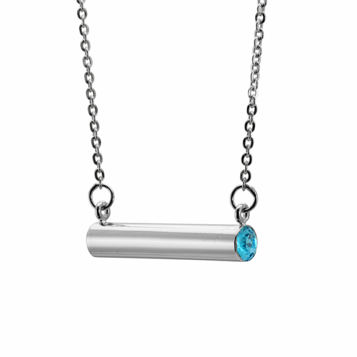 Stella Valle March Youth + Hope Silver Necklace
