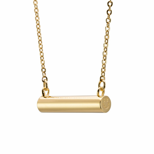 Stella Valle Smiley Gold Necklace