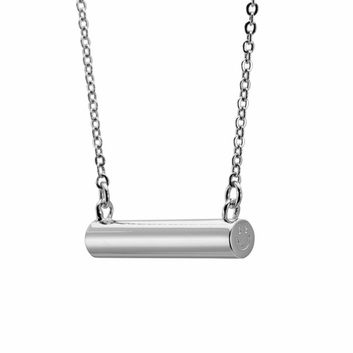 Stella Valle Smiley Silver Necklace