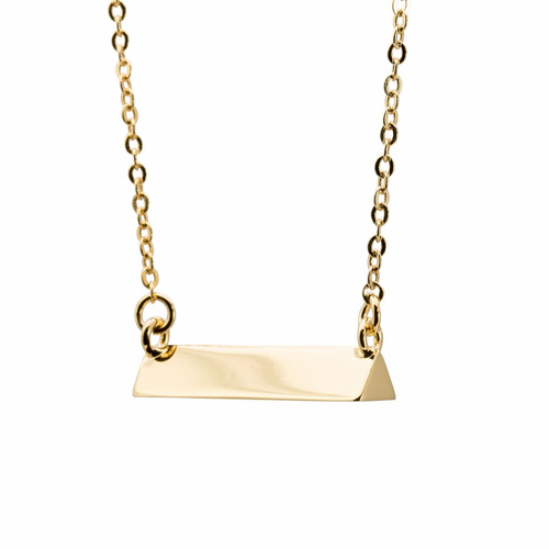 Stella Valle Triangle Gold Necklace