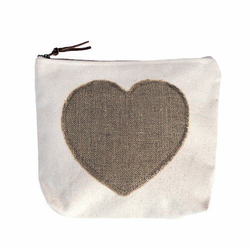 Stitched Heart Canvas Bag by Sugarboo Designs