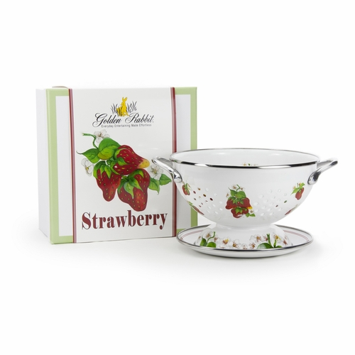 Strawberry Colander Gift Set by Golden Rabbit