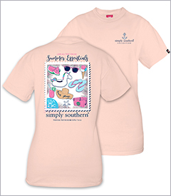 Summer Essentials Rose Short Sleeve Tee by Simply Southern