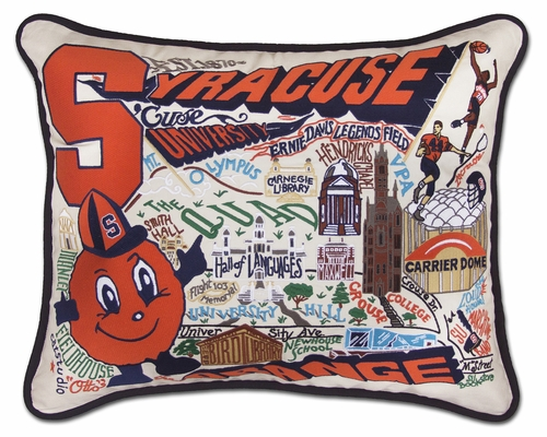 Syracuse University XL Embroidered Pillow by Catstudio (Special Order)
