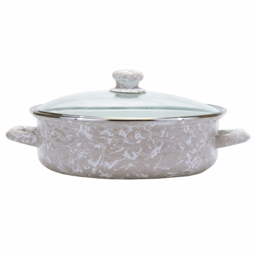 Taupe Small Saute Pan by Golden Rabbit