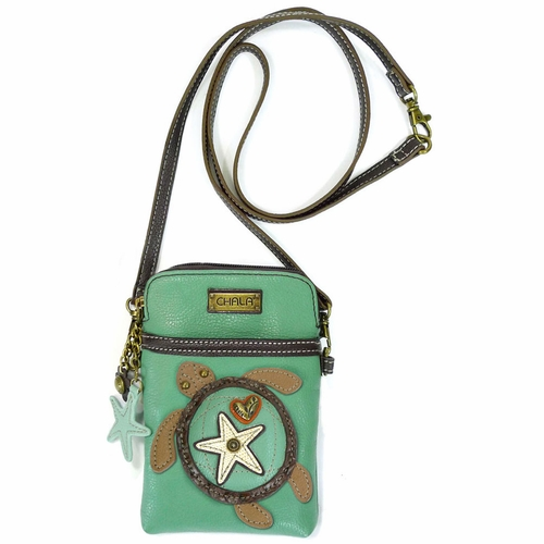Teal Sea Turtle Cell Phone Crossbody
