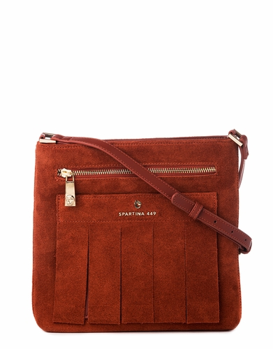Terracotta Suede Crossbody by Spartina 449
