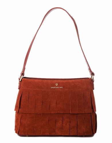 Terracotta Suede Shoulder by Spartina 449