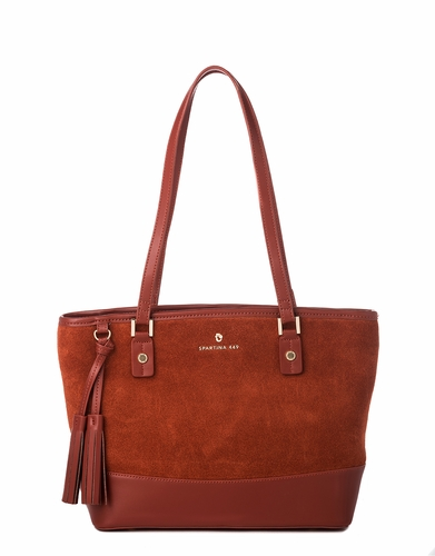 Terracotta Suede Tassel Tote by Spartina 449