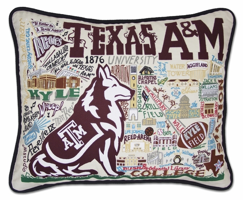 Texas A & M University XL Embroidered Pillow by Catstudio (Special Order)