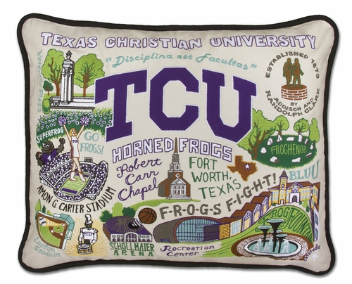 Texas Christian University XL Embroidered Pillow by Catstudio (Special Order)