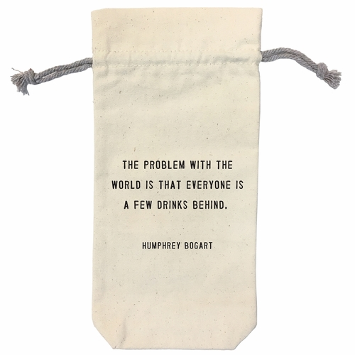 The Problem With The World Wine Bag by Sugarboo Designs