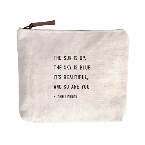 The Sun Is Up Canvas Bag by Sugarboo Designs