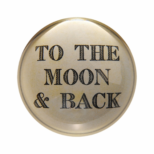 To The Moon And Back Paper Weight (Set of 2) by Sugarboo Designs